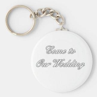 Kom till vår bröllopvit de MUSEUMZazzle gåvorna Nyckel Ring