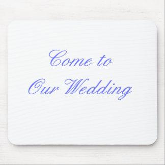 Kom till våra bröllopblått de MUSEUMZazzle gåvorna Mus Matta