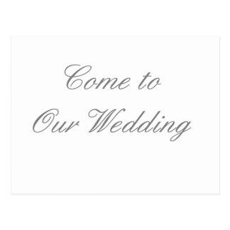 Kom till våra bröllopgrått de MUSEUMZazzle gåvorna Vykort