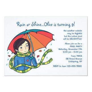 Komen regnar eller skeninbjudan 12,7 x 17,8 cm inbjudningskort