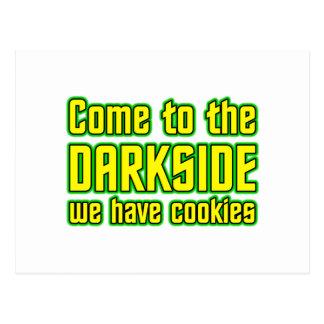 Komen till Darksiden har vi kakor Vykort
