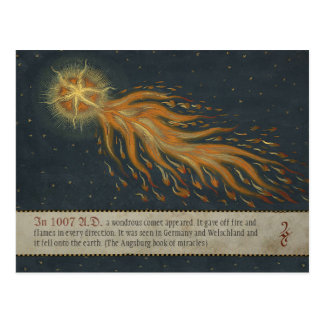 Komet från den Augsburg mirakelboken CC0904 Vykort
