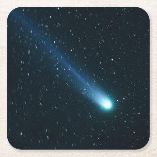 Komet i natthimmel underlägg papper kvadrat