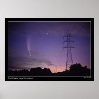 Komet & kraftledningarna poster