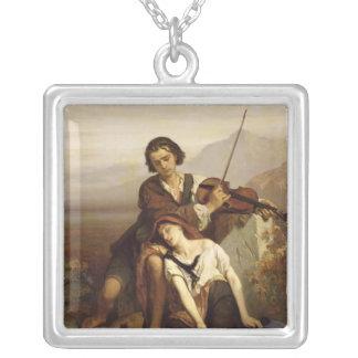 Komfort i sorgen, c.1852 silverpläterat halsband
