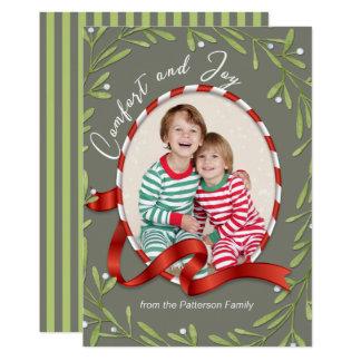 Komfort- och glädjehelgdagfoto 12,7 x 17,8 cm inbjudningskort