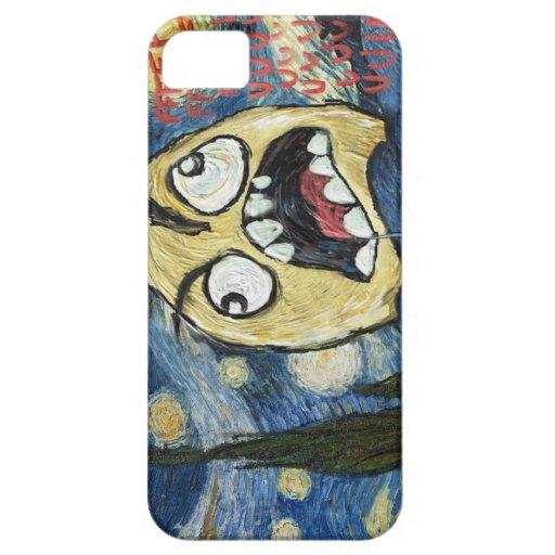 Komisk flott målning för ursinneansikteMeme ansikt iPhone 5 Case-Mate Skydd