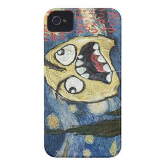 Komisk flott målning för ursinneansikteMeme ansikt iPhone 4 Case
