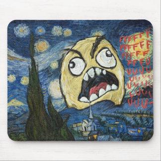 Komisk flott målning för ursinneansikteMeme ansikt Musmatta