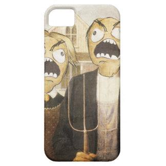 Komisk flott målning för ursinneansikteMeme iPhone 5 Case-Mate Fodraler