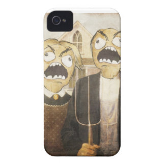 Komisk flott målning för ursinneansikteMeme iPhone 4 Case-Mate Fodraler