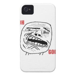 Komiskt ansikte för äcklad Oh gud iPhone 4 Case-Mate Cases