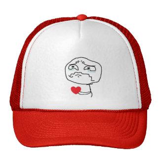 Komiskt ansikte för bruten hjärta baseball hat