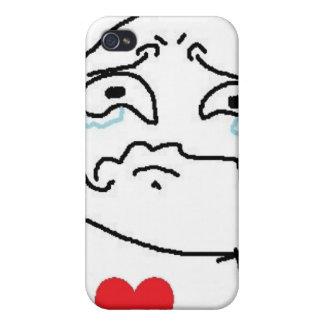 Komiskt ansikte för bruten hjärta iPhone 4 fodral