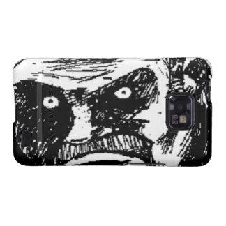 Komiskt ansikte för ilsken stirrande galaxy s2 fodral