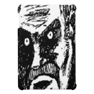 Komiskt ansikte för ilsken stirrande iPad mini cover