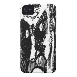 Komiskt ansikte för ilsken stirrande iPhone 4 Case-Mate case