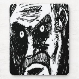 Komiskt ansikte för ilsken stirrande mus matta