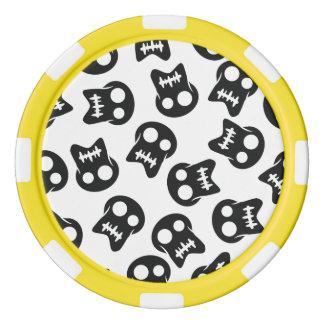 Komiskt skallesvartmönster set av tokens