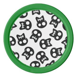 Komiskt skallesvartmönster spel tokens