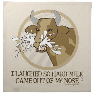 Komjölk ut min näsa tygservett