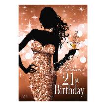 Komma med den 21st födelsedagen | för den Bling Tillkännagivande