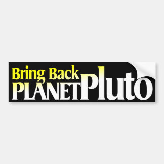 Komma med det tillbaka planet Pluto Bildekal
