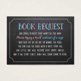 Komma med en bok i stället för ett kort, gender visitkort