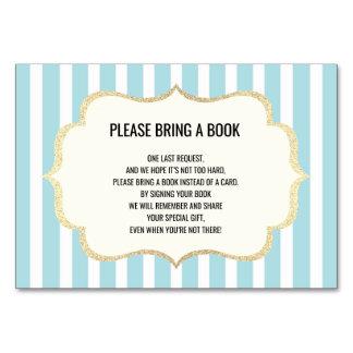 Komma med en bok - kort för baby shower för