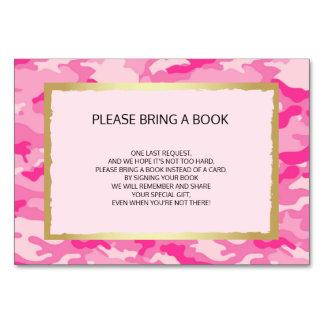 Komma med en bok - rosa kort för CAMO-flickababy