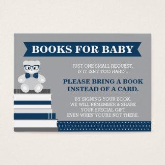 Komma med ett bokkort, lite manen, nalle visitkort