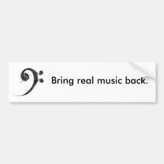 Komma med musikbaksida bildekal