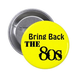 Komma med tillbaka 80-tal standard knapp rund 5.7 cm