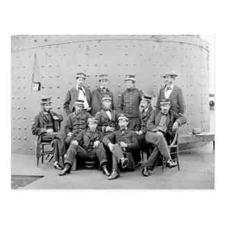 Kommenderar på USS Monitor, 1862 Vykort