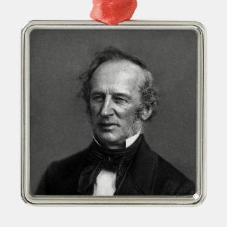 KommendörCornelius Vanderbilt porträtt circa 1850 Julgransprydnad Metall