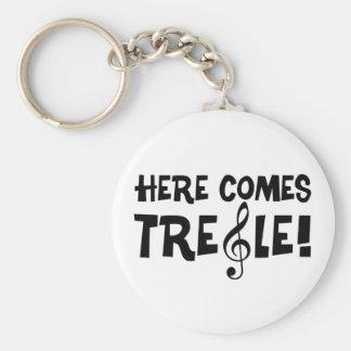 Kommer här Treble! Rund Nyckelring