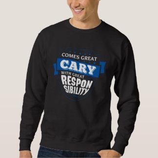 Kommer underbar CARY. Gåvafödelsedag Långärmad Tröja