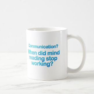 Kommunikationen utfärdar muggar