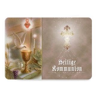 Kommunion - Einladungskarte 12,7 X 17,8 Cm Inbjudningskort