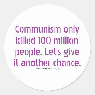 Kommunism Runt Klistermärke