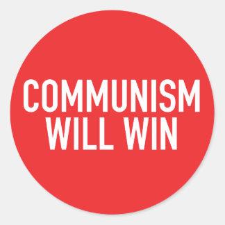 Kommunism ska segerklistermärke runt klistermärke