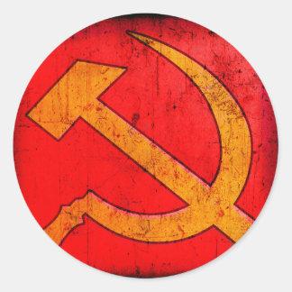 Kommunism USSR bultar och skäraklistermärken Runt Klistermärke