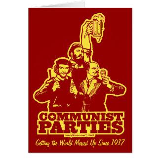 Kommunistpartikort Hälsningskort