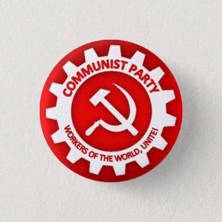 Kommunistpartit knäppas mini knapp rund 3.2 cm