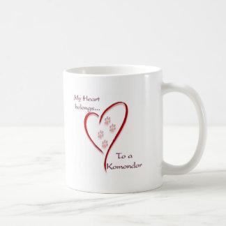 Komondor hjärtatillhör kaffemugg