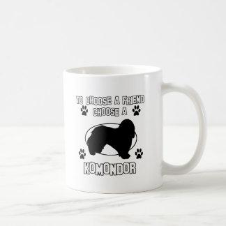 KOMONDOR-hund design Kaffemugg