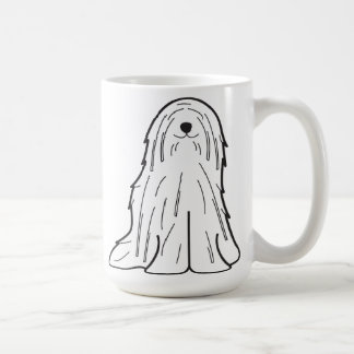 Komondor hundtecknad kaffemugg