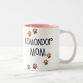 Komondor mamma Två-Tonad mugg