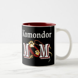 Komondor mammagåvor Två-Tonad mugg