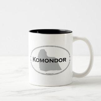 Komondor Oval Två-Tonad Mugg